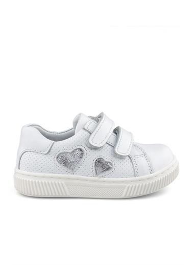 Cici Bebe Ayakkabı Deri Kız Çocuk Ayakkabısı Beyaz